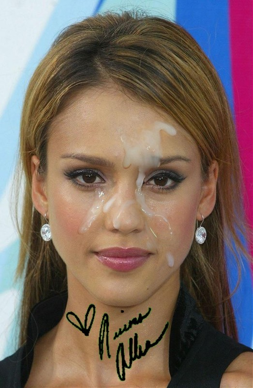 Think, Jessica alba with cum in her face